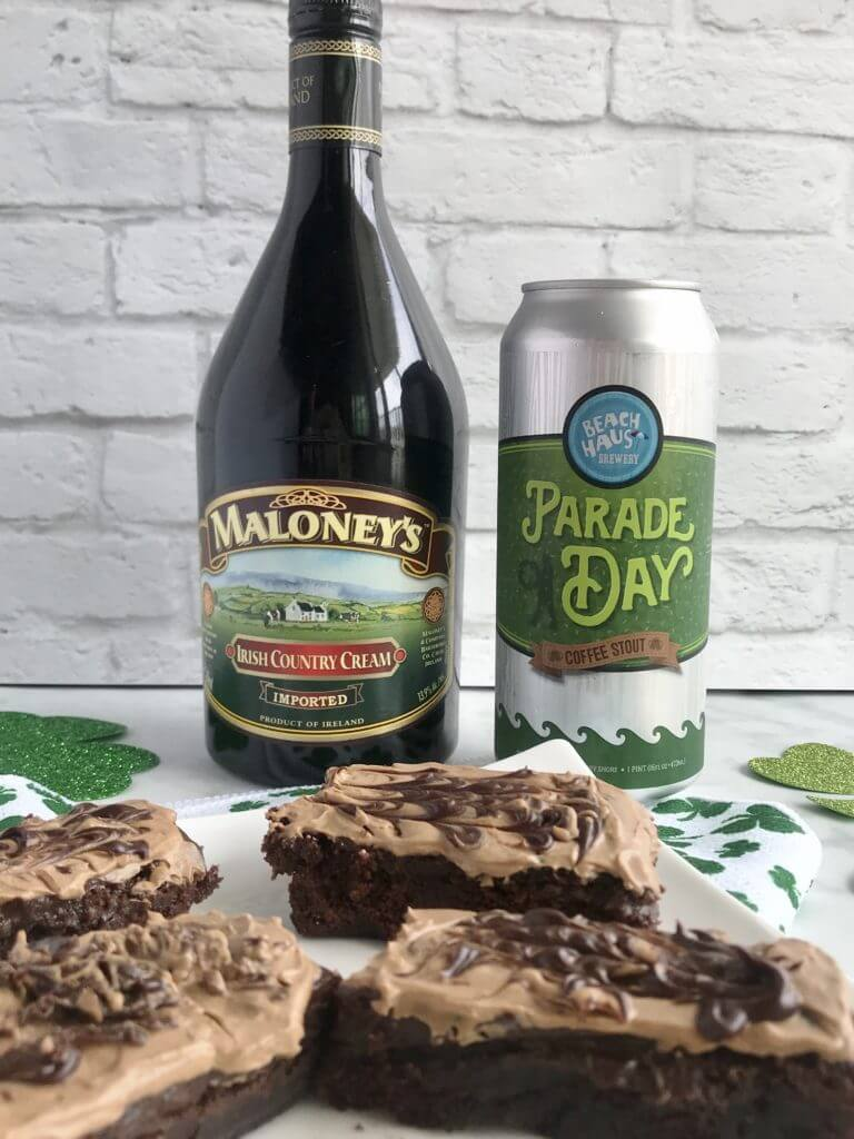 Boozy Brownies Irish Coffee Whipped Cream | Guinness Brownies | Nutrition Nuptials | Mandy Enright MS RDN RYT