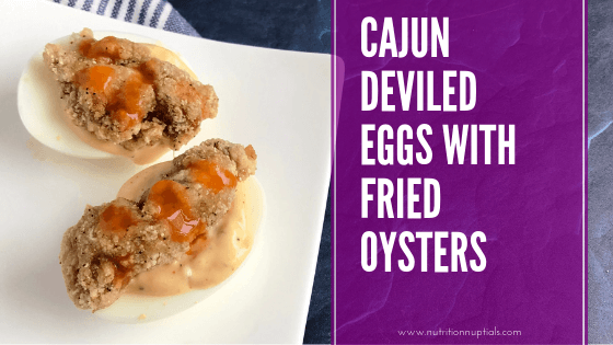 Cajun Deviled Eggs with Fried Oysters Recipe