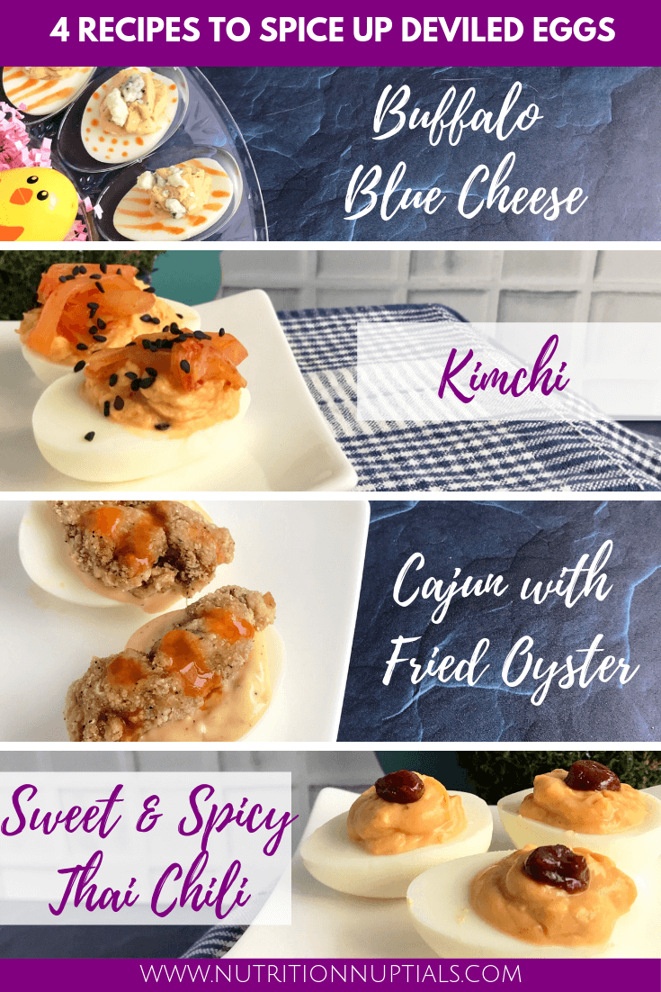 Spicy Deviled Egg Recipes | Easter Hardboiled Egg Leftovers | Nutrition Nuptials | Mandy Enright MS RDN RYT