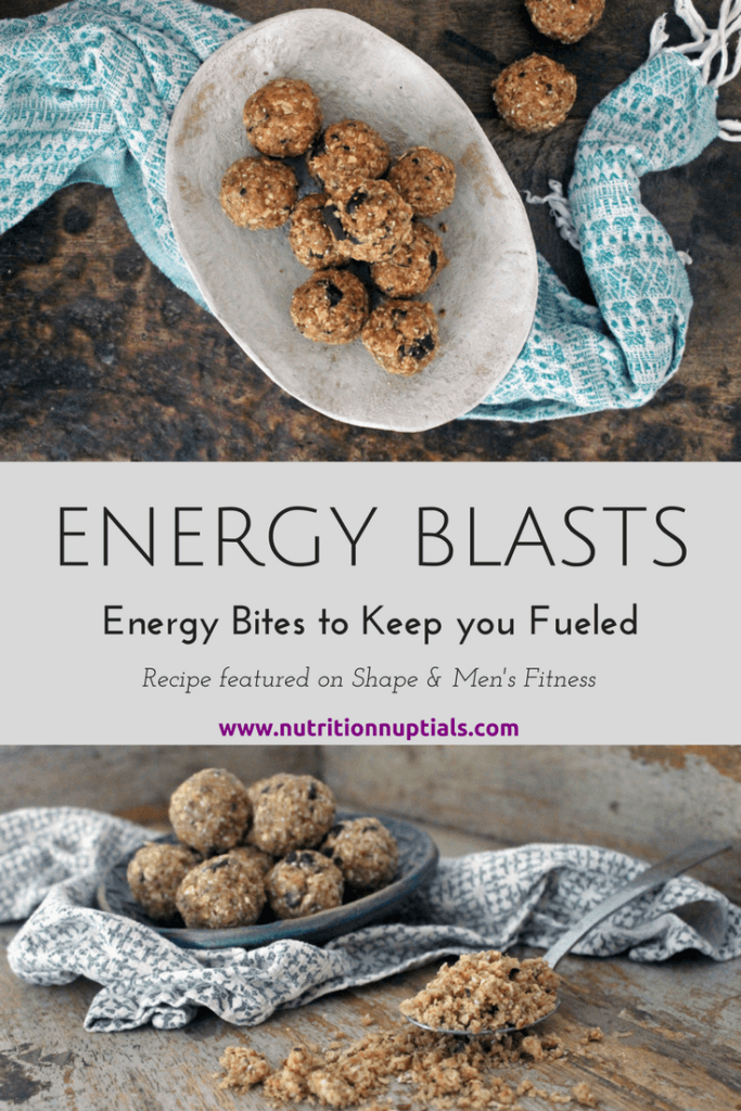 Energy Blasts | Energy Bites | Nutrition Nuptials | Mandy Enright MS RDN RYT