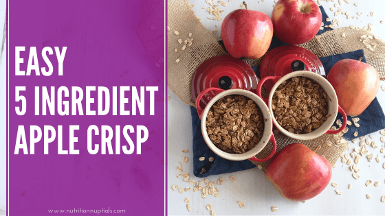 Easy 5 Ingredient Apple Crisp