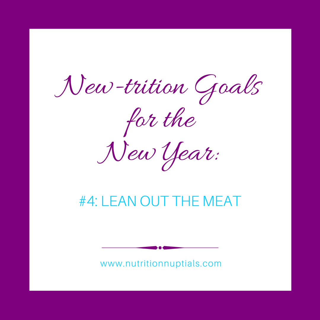 New-trition Goals   Nutrition Nuptials  Mandy Enright MS RDN RYT  New year Goals   plant based protein   lean out the meat