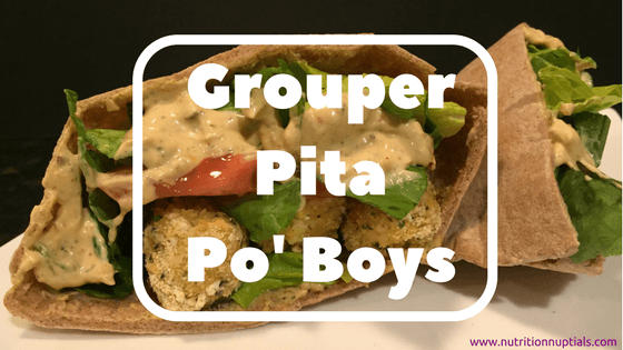 Grouper Pita Po' Boys