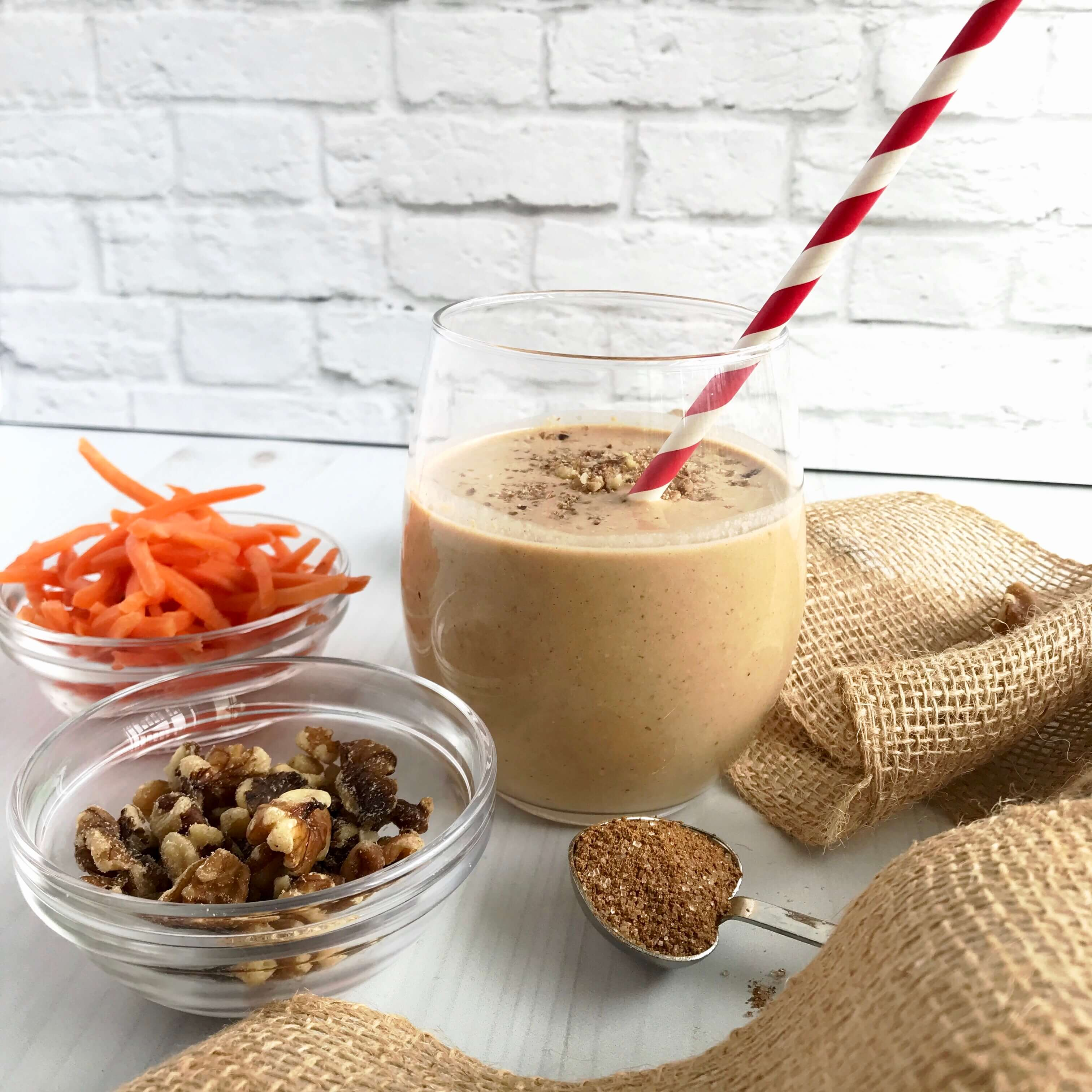 Carrot Cake Smoothie | Nutrition Nuptials | Mandy Enright MS RDN RYT