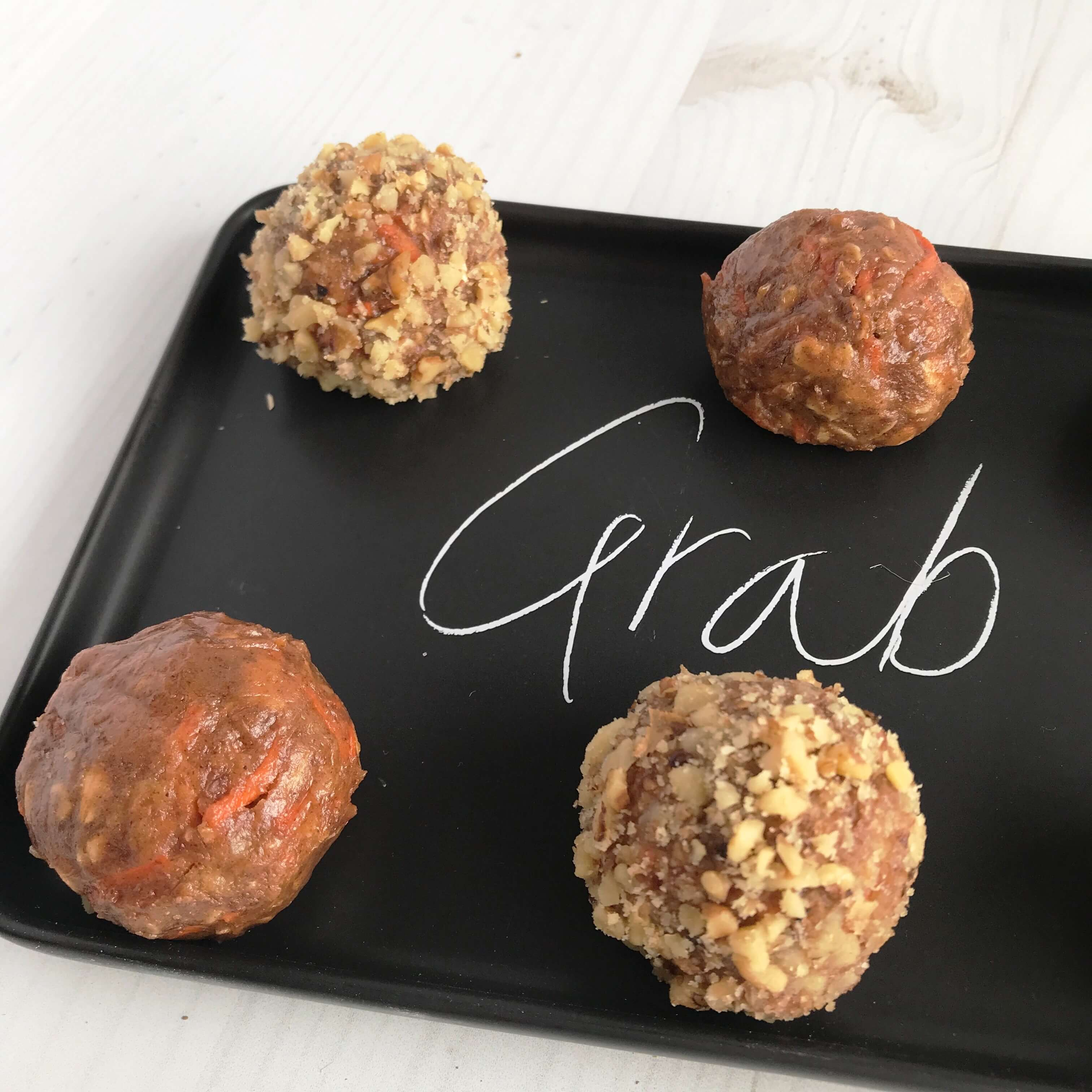 Carrot Cake Protein Bites | Energy Balls | Carrot Cake Protein Bites | Nutrition Nuptials | Mandy Enright MS RDN RYT