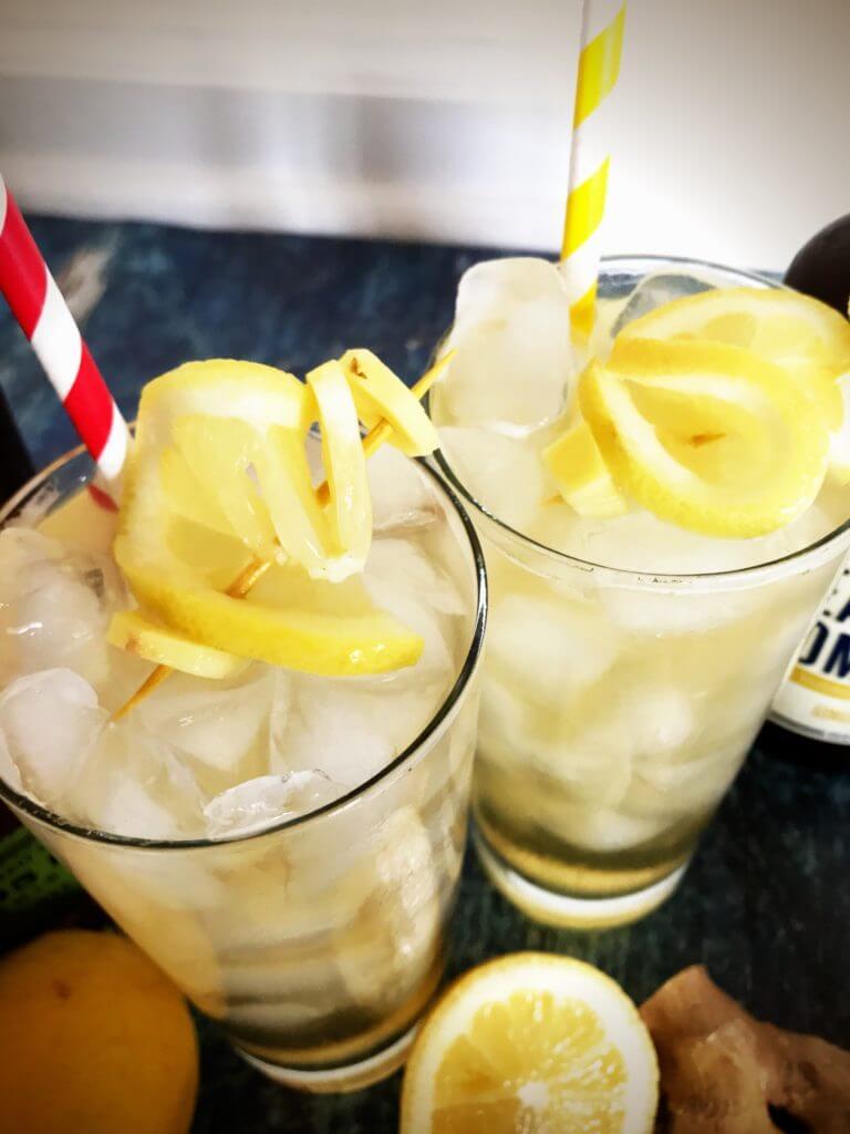 Kombullet Kocktail Recipe | Probiotic Cocktail | Kombucha Cocktail Recipe | Nutrition Nuptials | Mandy Enright MS RDN RYT