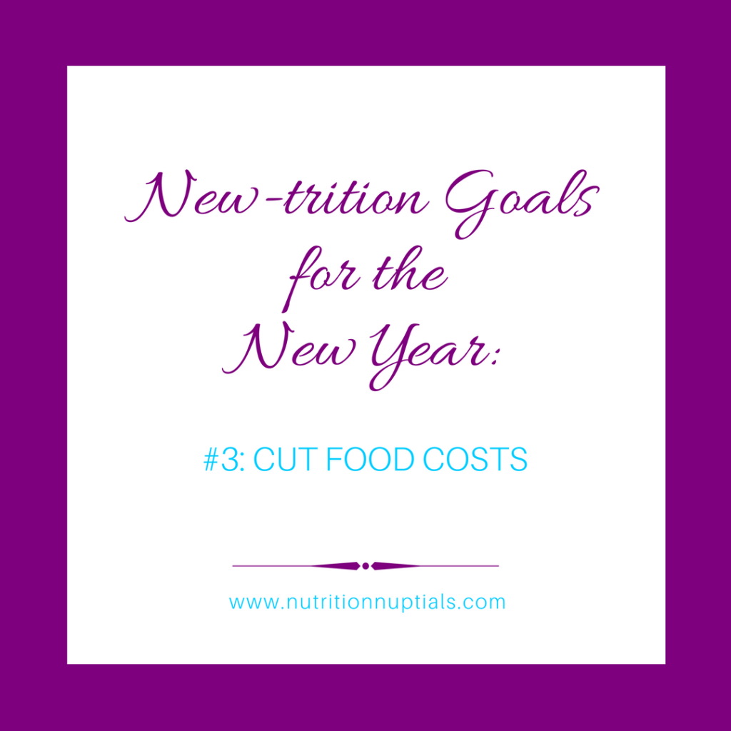 New-trition Goals | Nutrition Nuptials |Mandy Enright MS RDN RYT| New year Goals | cut food costs