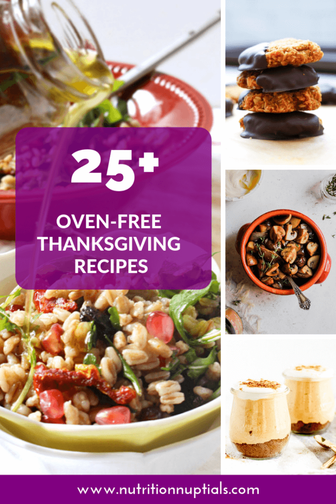 25 Oven Free Thanksgiving Recipes | Nutrition Nuptials | Mandy Enright MS RDN RYT