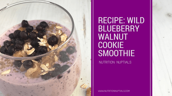 Wild Blueberry Oatmeal Walnut Cookie Smoothie Recipe