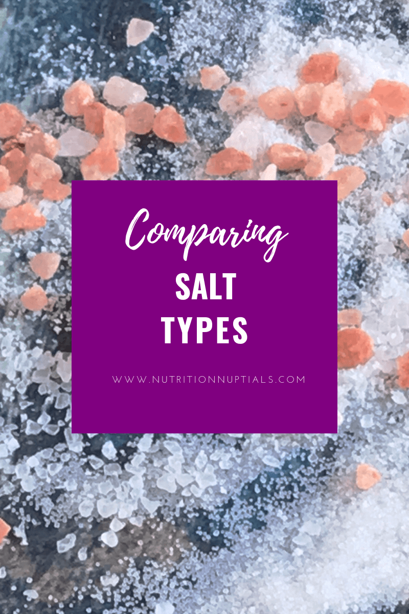 Comparing Different Types of Salt | CardioTabs CardioWhey | Nutrition Nuptials | Mandy Enright MS RDN RYT