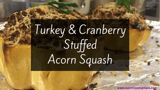 Turkey & Cranberry Stuffed Acorn Squash