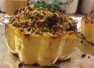 Turkey & Cranberry Stuffed Acorn Squash | Nutrition Nuptials | Mandy Enright MS RDN RYT