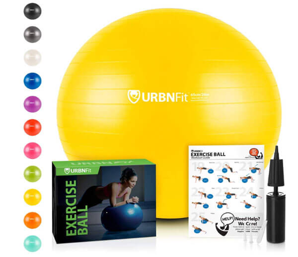 Exercise Balls are a versatile option for working out at home