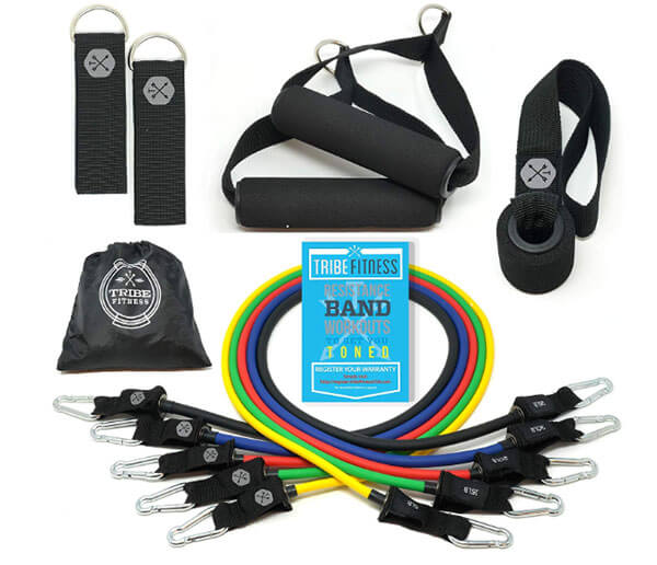 Resistance band sets like these from Tribe are great for working out at home or while traveling